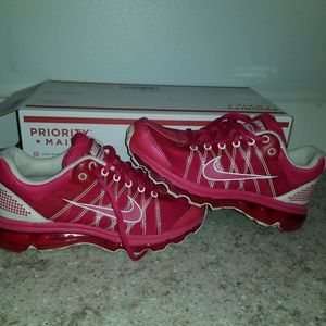 Red Nike women's Air max